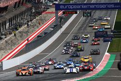 Start: #22 G-Drive Racing, Oreca 07 - Gibson: Memo Rojas, Nicolas Minassian, Leo Roussel, führt