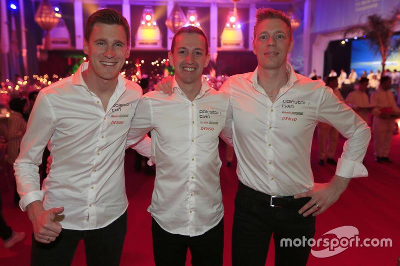 Nicky Catsburg, Nestor Girolami, Thed Björk, Polestar Cyan Racing, Volvo S60 Polestar TC1