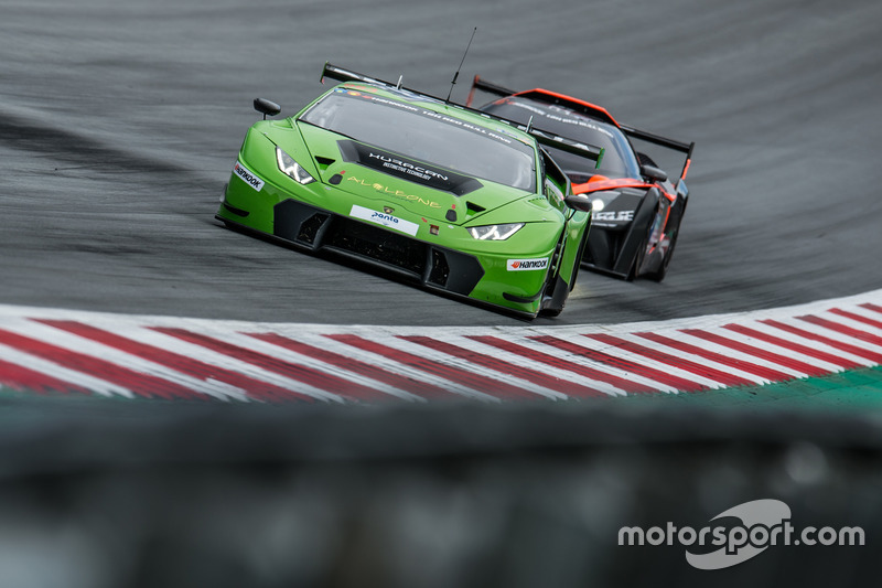 #963 GRT Grasser Racing Team, Lamborghini Huracan GT3: Milos Pavlovic, Christoph Lenz, Mark Ineichen