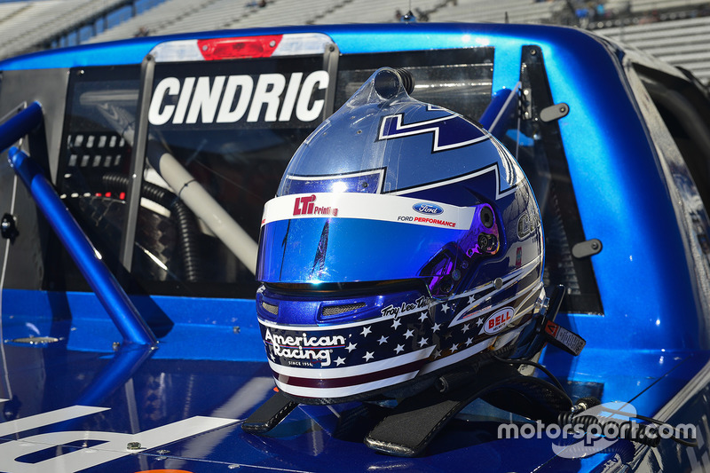 The helmet of Austin Cindric, Brad Keselowski Racing Ford
