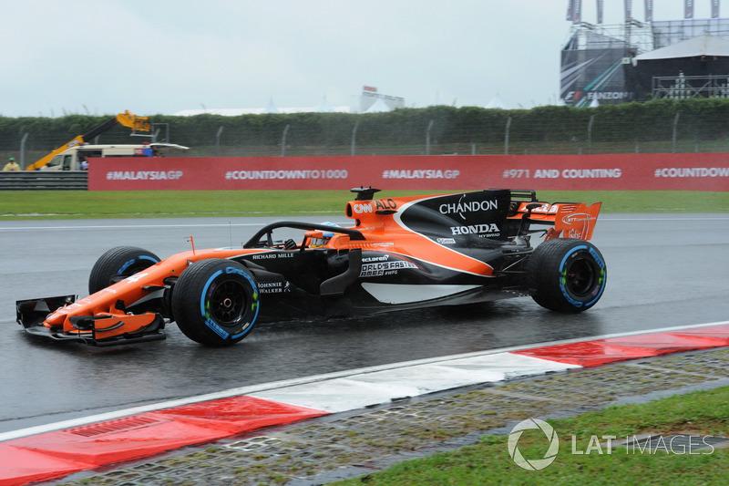 Fernando Alonso, McLaren MCL32 y el halo