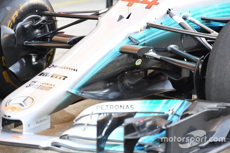 Mercedes-Benz F1 W08  nose detail