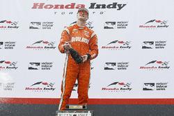Podium: winner Josef Newgarden, Team Penske Chevrolet
