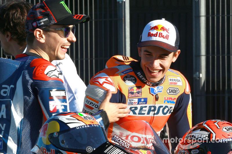 Jorge Lorenzo, Yamaha Factory Racing; Marc Marquez, Repsol Honda Team