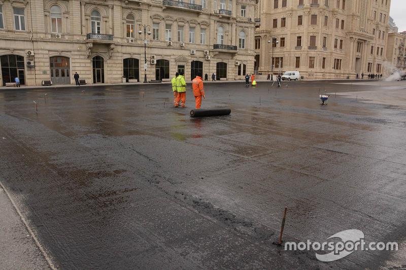 New asphalt surface