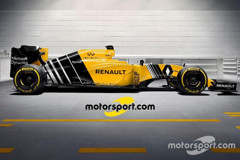 Desenho imaginário do Renault R.S.16