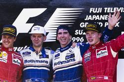 Победитель Дэймон Хилл, Williams, Эдриан Ньюи, Williams, второе место – Михаэль Шумахер, Ferrari, третье место – Мика Хаккинен, McLaren