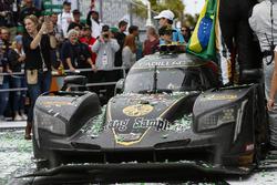 #5 Action Express Racing Cadillac DPi, P: Joao Barbosa, Christian Fittipaldi, Filipe Albuquerque, Celebrate win, Confetti