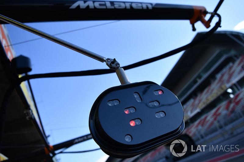 Luces de pit stop de McLaren