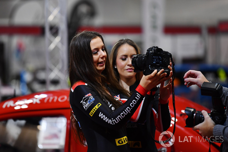 Promotional girls take a selfie