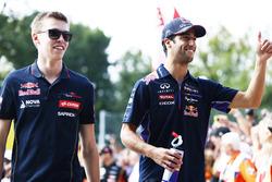 Daniil Kvyat, Scuderia Toro Rosso, Daniel Ricciardo, Red Bull Racing