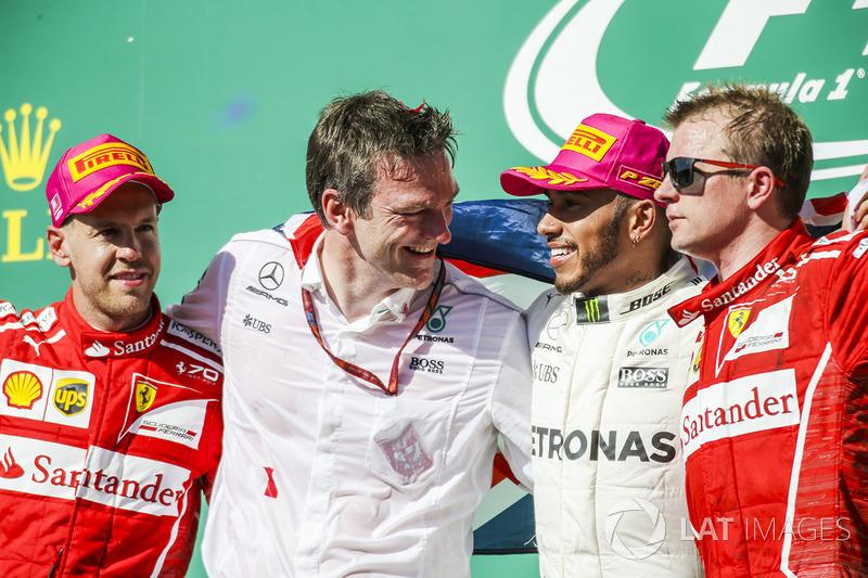 Birleşik Devletler GP - Kazanan Lewis Hamilton, 2. Sebastian Vettel, 3. Kimi Raikkonen