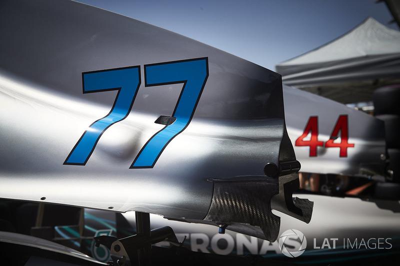 أرقام سيارة لويس هاميلتون، مرسيدس وفالتيري بوتاس، مرسيدس