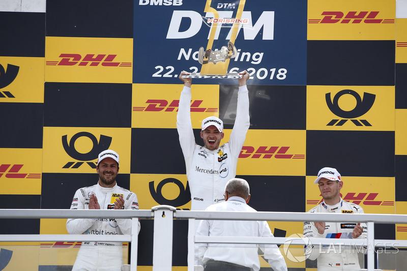 Podium: Race winner Mattias Ekström, Audi Sport Team Abt Sportsline, second place Gary Paffett, Mercedes-AMG Team HWA, third place Marco Wittmann, BMW Team RMG