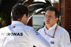 Toto Wolff, Mercedes AMG F1 Director of Motorsport and Nicholas Tombazis, FIA Head of Single-Seater