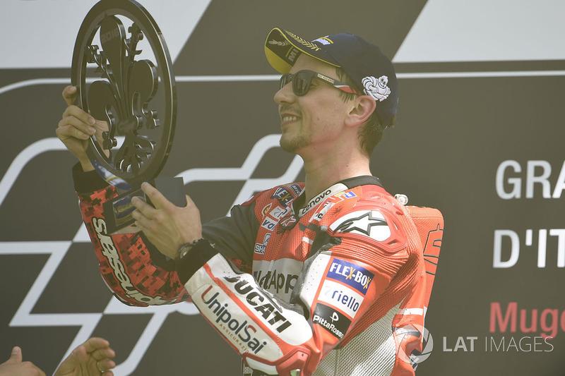 Podyum: Yarış galibi Jorge Lorenzo, Ducati Team