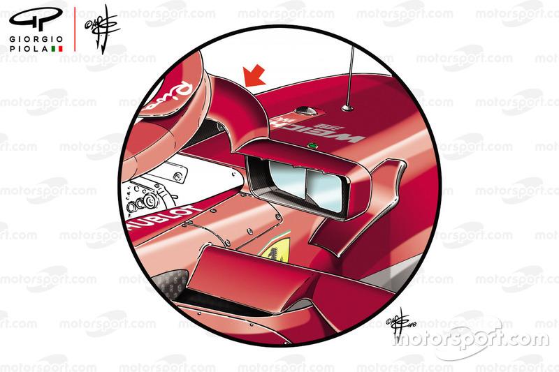Дзеркала Ferrari SF71H на ГП Монако
