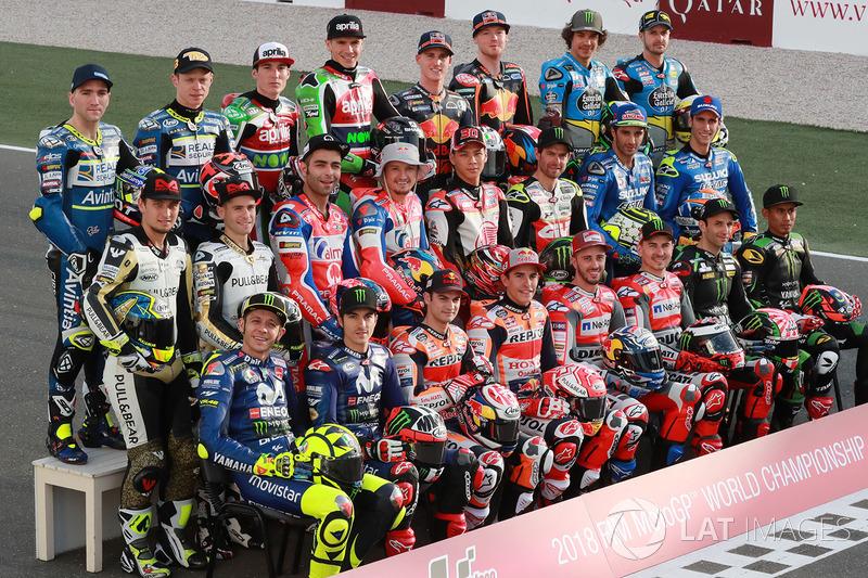 Photo de groupe des pilotes MotoGP