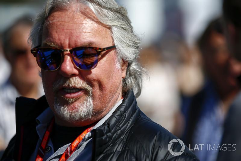 Keke Rosberg foi um dos que compareceram ao autódromo hoje.