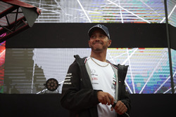 Lewis Hamilton, Mercedes AMG F1, on stage