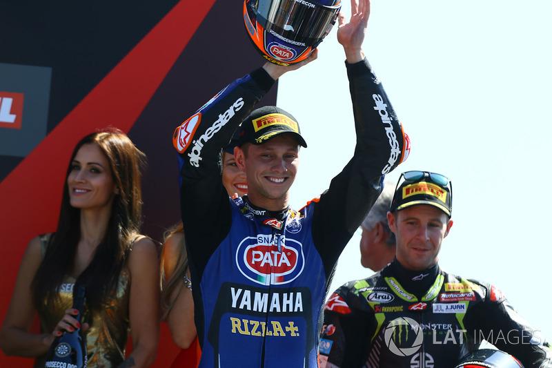 Podio: segundo lugar Michael van der Mark, Pata Yamaha