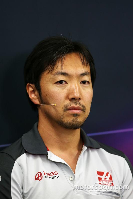 أيوا كوماتسو، مهندس سباقات بفريق هاس