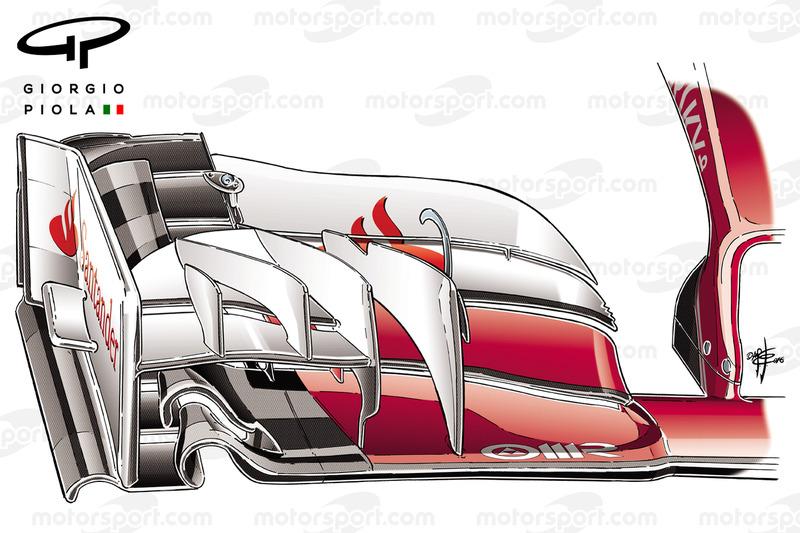 Переднее антикрыло Ferrari SF16H для Гран При Австралии