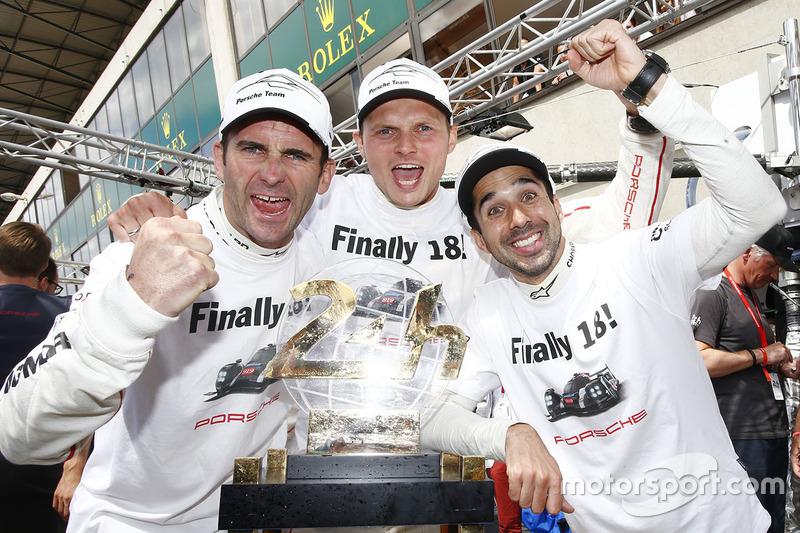 Die Sieger: Romain Dumas, Marc Lieb, Neel Jani