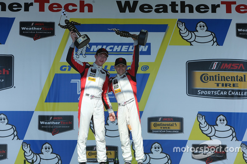 GTD Podium: first place Madison Snow, Bryan Sellers, Paul Miller Racing