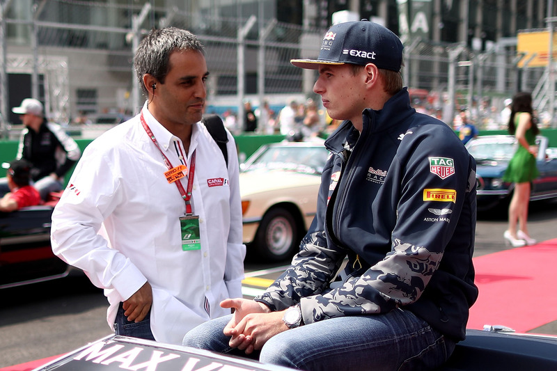 Max Verstappen, Red Bull Racing, mit Juan Pablo Montoya