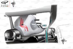 Mercedes AMG F1 W09 espejo retrovisor