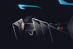 Coche de Fórmula E 2018/2019 en un teaser