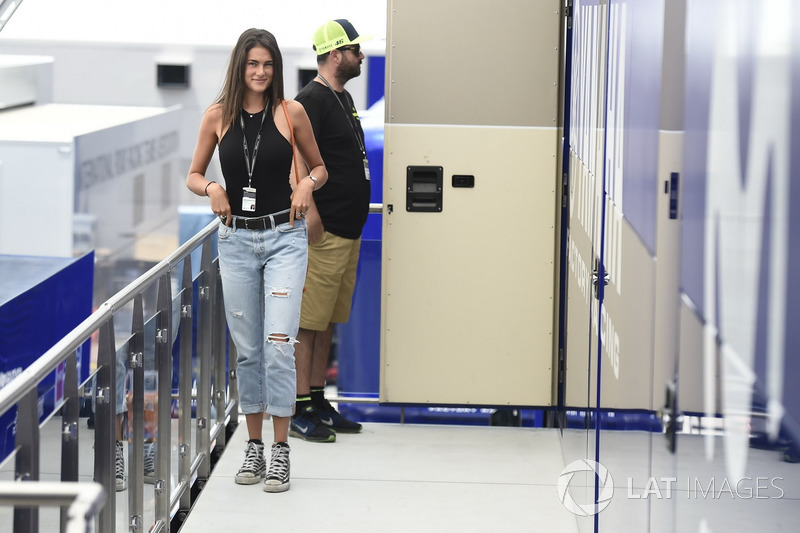 Francesca Sofia Novello, girl friend of Valentino Rossi, Yamaha Factory Racing at Catalan GP