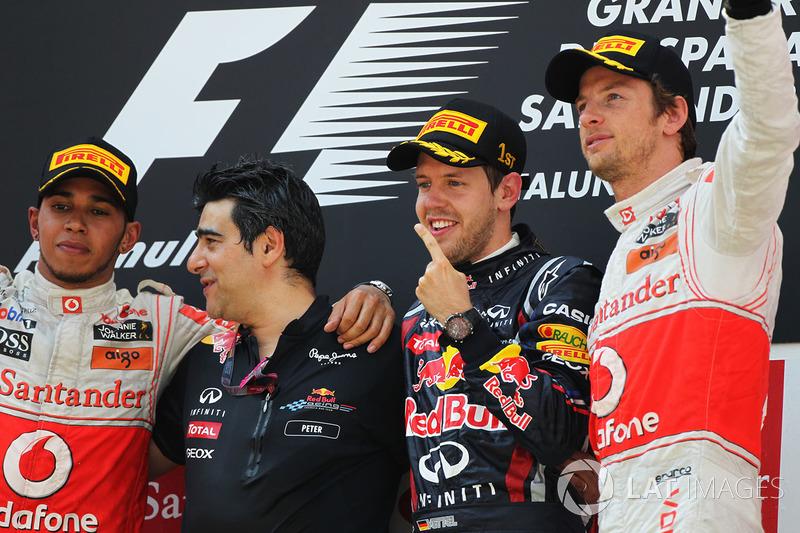2011: 1. Sebastian Vettel, 2. Lewis Hamilton, 3. Jenson Button