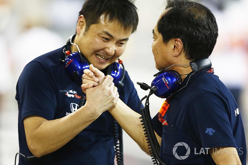 Honda merayakan raihan finis keempat Pierre Gasly, Toro Rosso