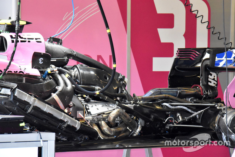 Force India VJM11 engine view