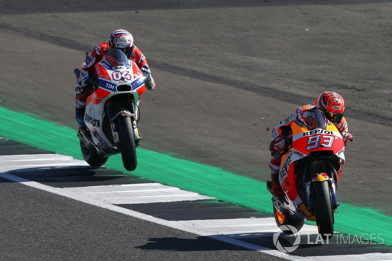 7. Kegagalan mesin Marquez dan kemenangan Dovizioso di Silverstone