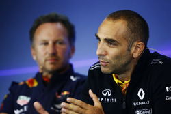 Christian Horner, Team Principal, Red Bull Racing, Cyril Abiteboul, Managing Director, Renault Sport