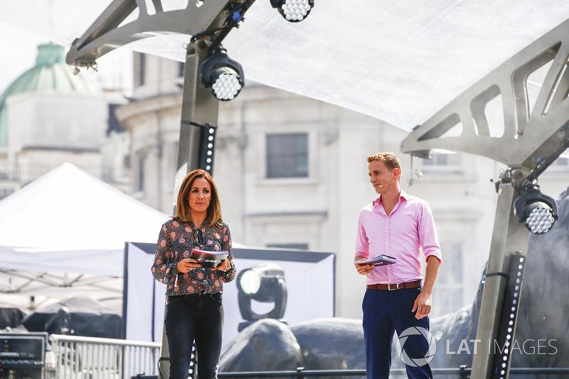 Natalie Pinkham, TV Presenter, Sky Sports F1, on stage