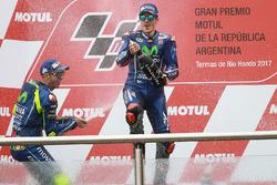 Podio: Valentino Rossi, Yamaha Factory Racing, Maverick Viñales, Yamaha Factory Racing