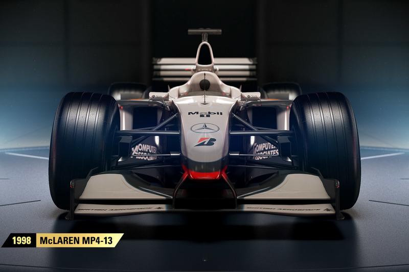 DLC para 2017 viene McLAREN MP4-23,Ferrari f2002 Ferrari 412 T2  McLAREN MP4/6, Red Bull Racing RB6, McLAREN MP4-13 WILLIAMS FW14B WILLIAMS FW18 Sim-racing-f1-2017-release-2017-1998-mclaren-mp4-13