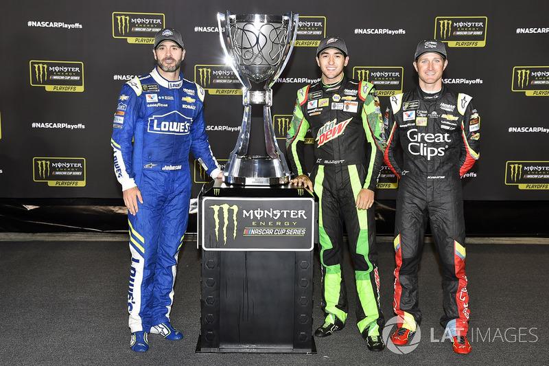 Playoff-Teilnehmer 2017 von Hendrick Motorsports: Jimmie Johnson, Chase Elliott, Kasey Kahne