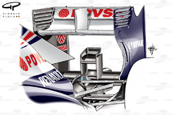 Williams FW35 rear wing and monkey seat