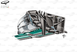 Mercedes F1 W07 front wing (New Endplate)