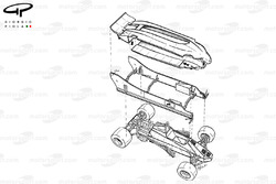 Lotus 88 1981 twin chassis exploded view