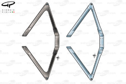 Renault R24 rear wishbone comparison