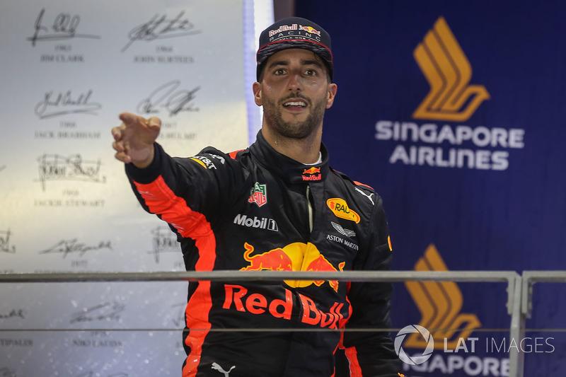 Daniel Ricciardo foi o segundo.