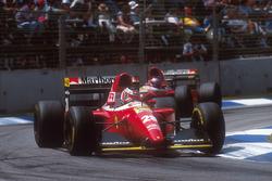 Gerhard Berger, Ferrari F93A leads teammate Jean Alesi, Ferrari F93A