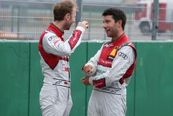 René Rast, Audi Sport Team Rosberg, Audi RS 5 DTM; Mike Rockenfeller, Audi Sport Team Phoenix, Audi