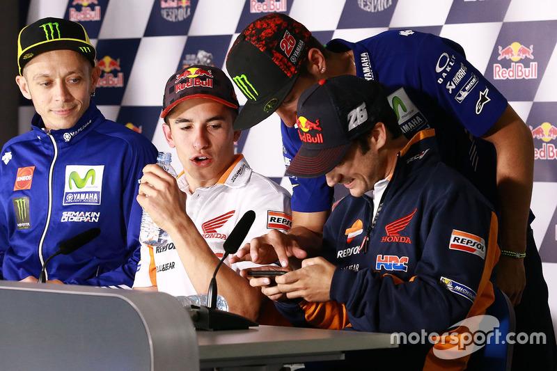 Valentino Rossi, Yamaha Factory Racing, Marc Marquez, Repsol Honda Team, Maverick Viñales, Yamaha Fa